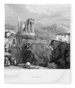 Italy: Tivoli, 1832 Fleece Blanket
