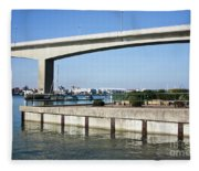 Itchen Bridge Southampton Fleece Blanket