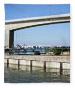 Itchen Bridge Southampton Fleece Blanket