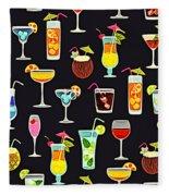 Its 5  Oclock Somewhere Cocktails Fleece Blanket