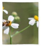 Its A Bee's World Fleece Blanket