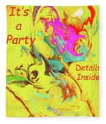 It's A Party Abstract Fleece Blanket