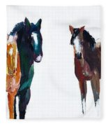 It's All About The Horses Fleece Blanket