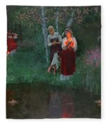 Ivan Kupala. Fortunetelling For Wreaths. Fleece Blanket