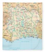 Ivory Coast Fleece Blanket