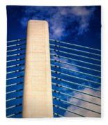 Ivory Tower At Indian River Inlet Fleece Blanket