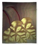 Ivy Heart Fleece Blanket