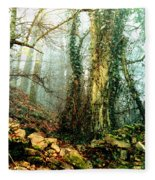 Ivy In The Woods Fleece Blanket