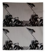 Iwo Jima Fleece Blanket