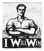Iww Poster, 1917 Fleece Blanket