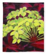 Ixora - Jungle Flame Fleece Blanket