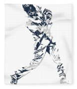 J D Martinez Detroit Tigers Pixel Art 3 Fleece Blanket