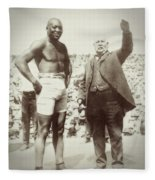 Jack Johnson - Heavyweight Boxing Champion  1908 - 1915 Fleece Blanket