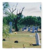 Jack Rabbit In Cementery Fleece Blanket
