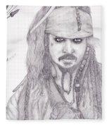 Jack Sparrow Fleece Blanket