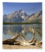 Jackson Lake 3 Fleece Blanket