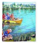 Jackson Lake Fleece Blanket