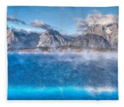 Jackson Lake - Teton National Park Fleece Blanket