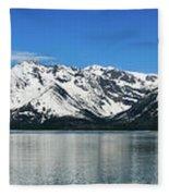 Jackson Lake Teton Panorama Fleece Blanket