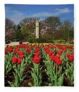 Jackson Park Spring Tulips 2 Fleece Blanket
