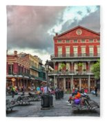Jackson Square Evening Fleece Blanket