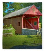 Jackson's Mill Covered Bridge Fleece Blanket