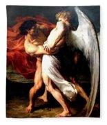 Jacob Wrestling With The Angel Fleece Blanket