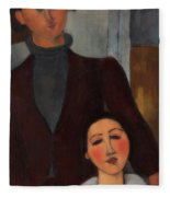 Jacques And Berthe Lipchitz Fleece Blanket