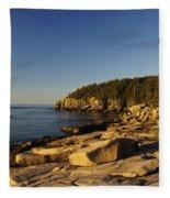 Jagged Coast Of Maine Fleece Blanket