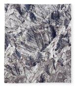 Jagged Glacier Fleece Blanket
