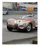Jaguar C-type At Monaco Fleece Blanket
