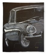 Jaguar E Type Fleece Blanket