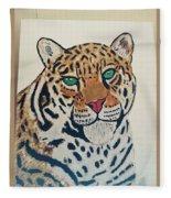 Jaguar Painting Fleece Blanket
