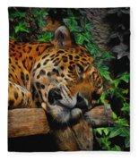 Jaguar Relaxing Fleece Blanket