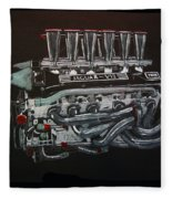 Jaguar V12 Twr Engine Fleece Blanket