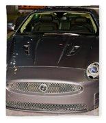 Jaguar Xk No 1 Fleece Blanket