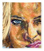 Jaime Pressly Fleece Blanket