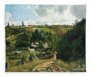 Jalais Hill At Pontoise Fleece Blanket