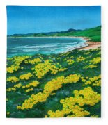 Jalama Beach Fleece Blanket