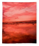 Jamaica Sunset Fleece Blanket