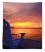 Jamaican Night Lights Fleece Blanket