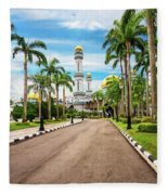 Jame'asr Hassanil Bolkiah Mosque In Brunei Fleece Blanket