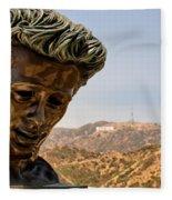 James Dean - Griffith Observatory Fleece Blanket