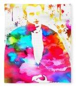 James Dean Watercolor Fleece Blanket