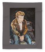 James Dean Fleece Blanket