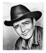 James Drury Fleece Blanket