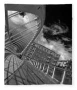 James Joyce Bridge 2 Bw Fleece Blanket