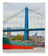 James M Schoonmaker And The Anthony Wayne Bridge Fleece Blanket
