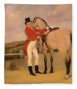James Taylor Wray Of The Bedale Hunt With His Dun Hunter Fleece Blanket