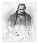 James Watt, Scottish Inventor Fleece Blanket